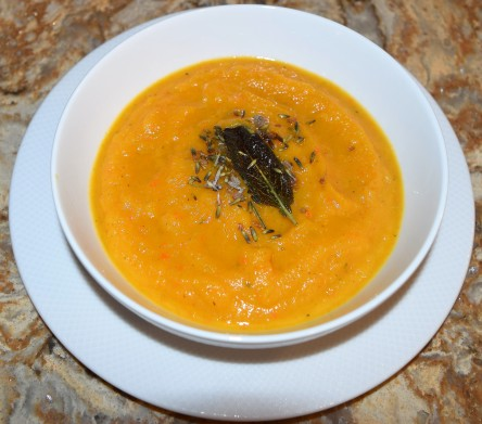 Butternut Squash Soup with Lavender and Sage