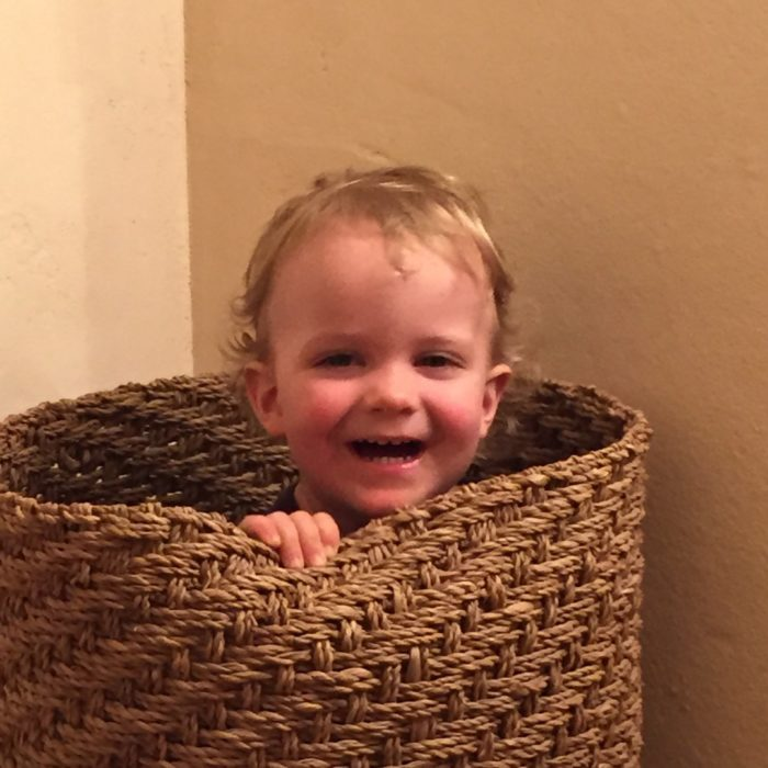 Grandson emerging from a pattern of wholeness!